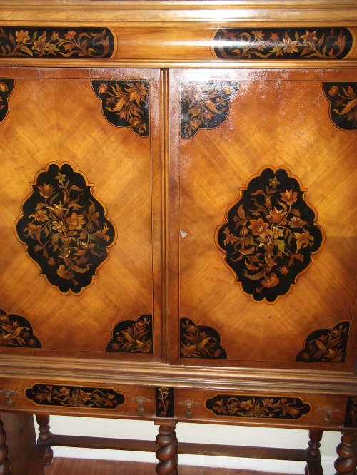 Marquetry Cabinet (though it's not actually inlaid wood - it's a paint job).