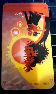 Tarot of the Silicon Dawn - Three of Fire (Inward-Facing)