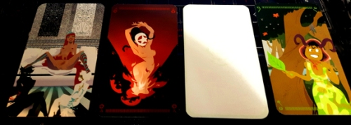 Tarot of the Silicon Dawn - Maya, Queen of Fire, White Galaxy Rose, Queen of Earth